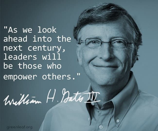 Bill Gates quote on being a great manager is empowering others