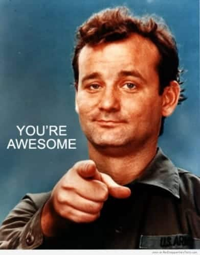 It helps to praise people. Let them know when they're awesome.