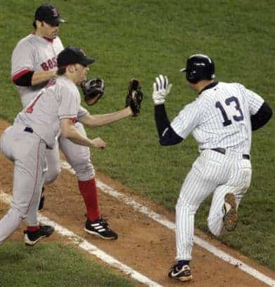 The Red Sox kept their composure even when Arod slapped the ball out of Arroyo's glove