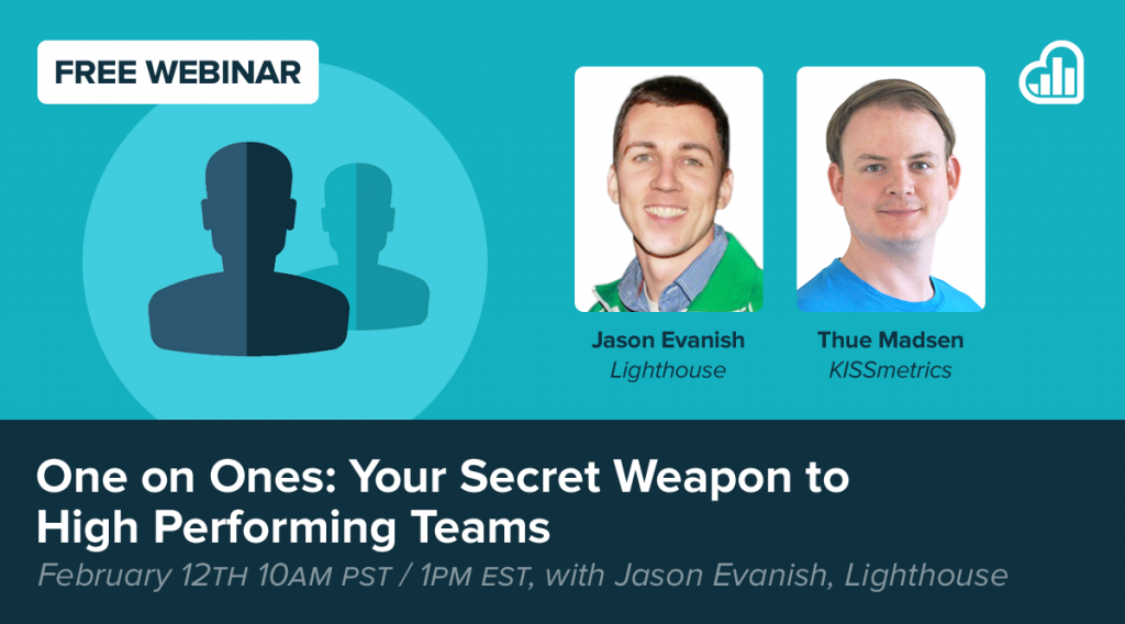 Lighthouse webinar on one-on-ones as your secret weapon to high performing teams
