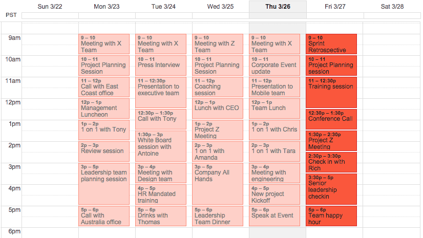 Take a break - your calendar shouldn't look like this