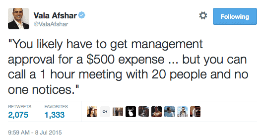 How to be a better manager Vala Ashafar on the wastes of meetings