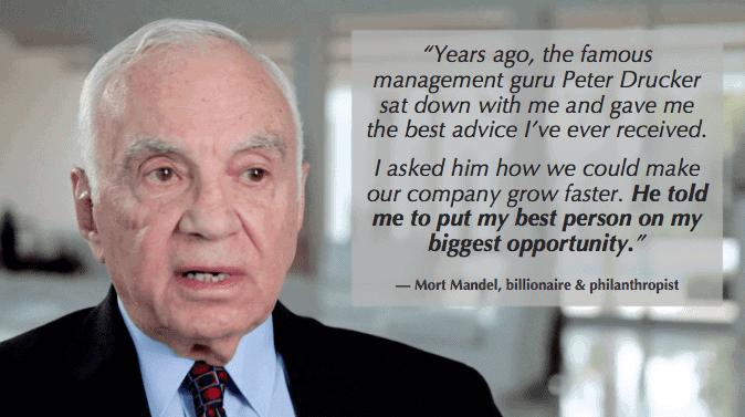 Management Skill - Mort Mandel advice from Peter Drucker