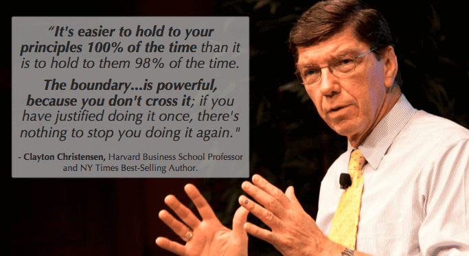 Leadership Paradox: Stick to your principles 100 percent like clayton christensen
