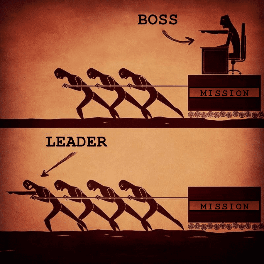 qualities of a good leader - boss versus leader is a key understanding