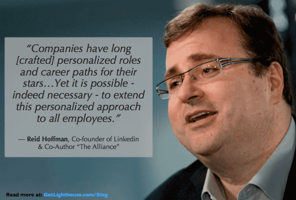 Employee development - Reid Hoffman encourages an investment in growth of everyone in your company