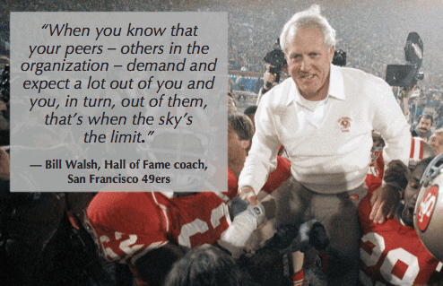 Bill Walsh high standards sky is the limit side quote get lighthouse