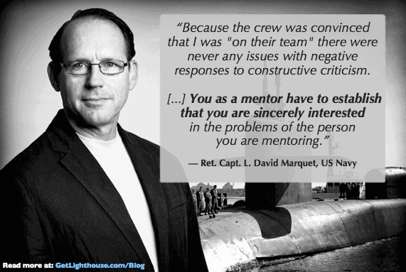 afraid at work - Capt David Marquet shows us feedback is better received when you care about the.