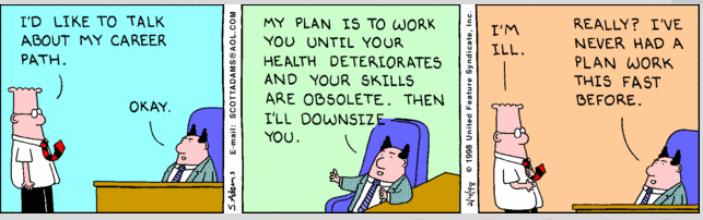 your career path will be easier than a dilbert comic