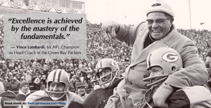 give a new managerthe right fundamentals and breed excellence like Vince Lombardi