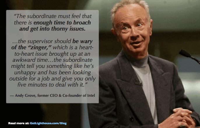 one on one meeting template - andy grove knows time matters