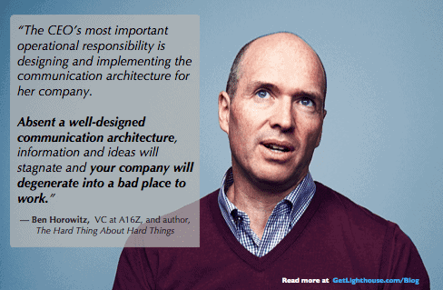 people leave managers, not companies ben horowitz knows how crucial communication is