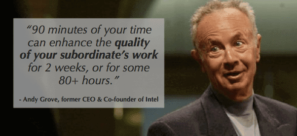 andy grove knows what a top manager should do and a key is one on ones talking about growth