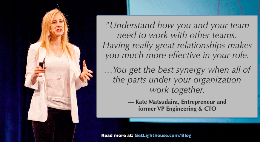 Kate Matsudaira knows you need to have your team work well with other teams