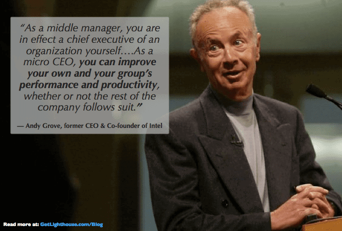 bad leaders pass the buck. good leaders know they can be like andy grove and help their teams no matter what