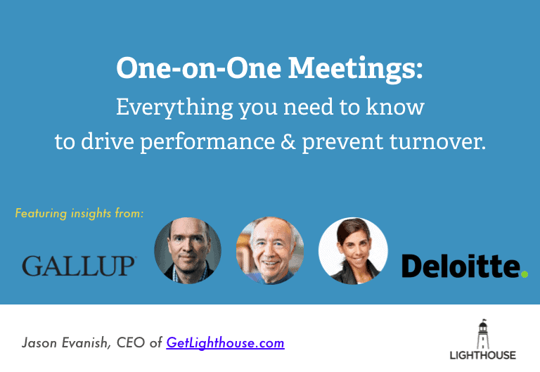 1 on 1 meetings cover slide with experts