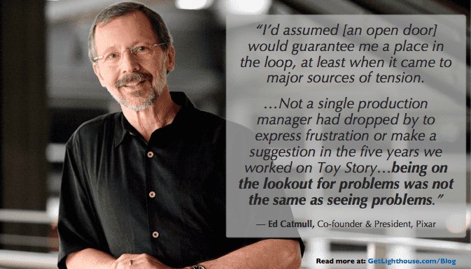 want more feedback you have to ask as Ed Catmull learned