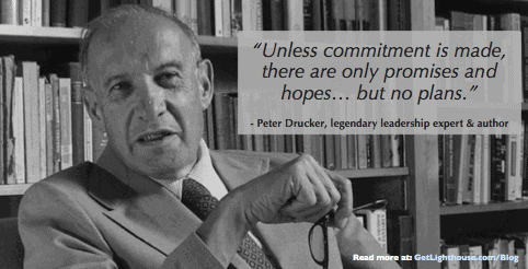 Peter Drucker knows that getting more feedback means being actionable on the feedback you get