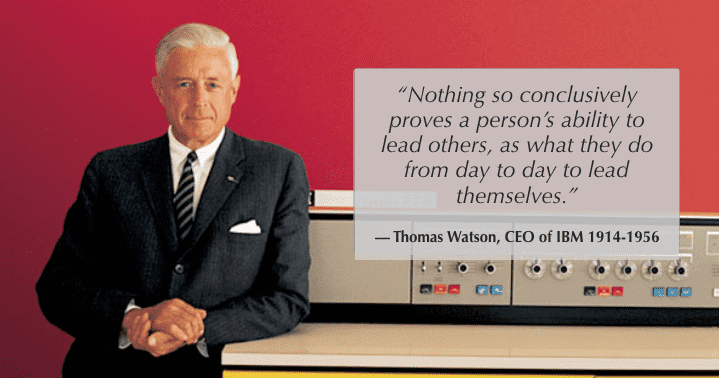 thomas watson knows how important leading by example is to getting more feedback