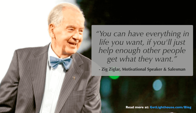 zig ziglar knows if you help others you can get things you want like more feedback