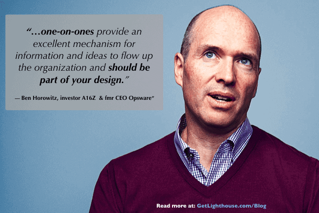 As ben horowitz knows skip level one on one meetings are key to your communication architecture