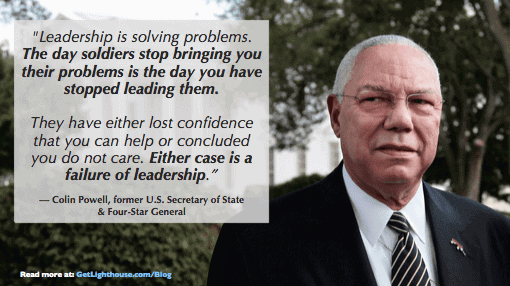 questions to ask a ceo - colin powell knows you need to look for problems