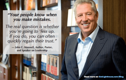 John C Maxwell knows you need to embrace failing to be a good manager