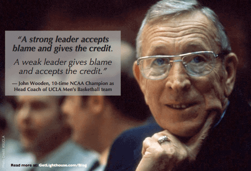 john wooden knows to be a good manager you have to be humble