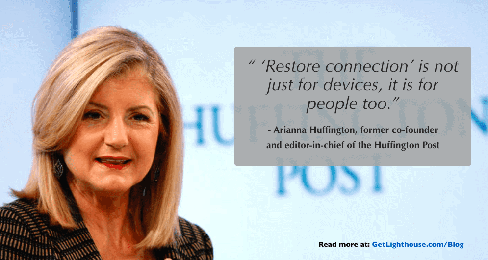 managing millennials in the workplace - arianna huffington quote