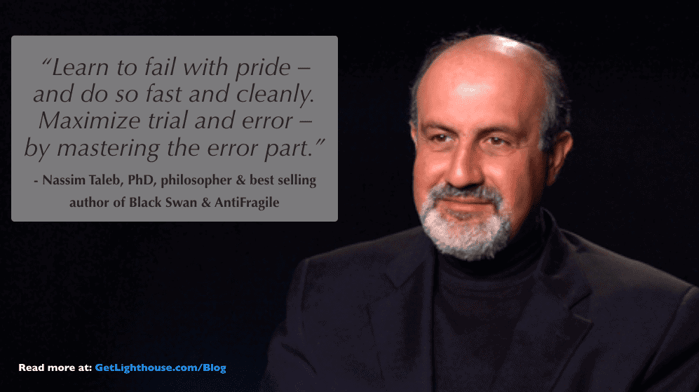 career development plans - nassim taleb knows trial and error is a key part of it