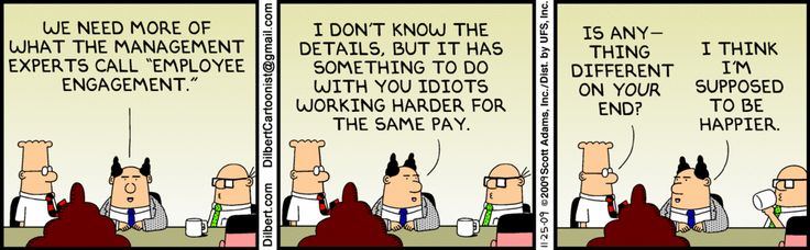 employees leave managers, not companies - dilbert knows