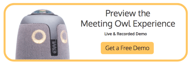remote work can be improved with a meeting owl. get your demo