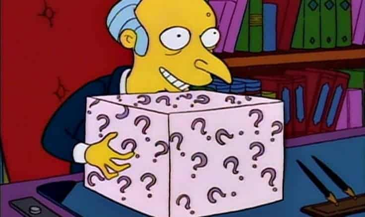 gifts for boss's day - mr burns mystery gift
