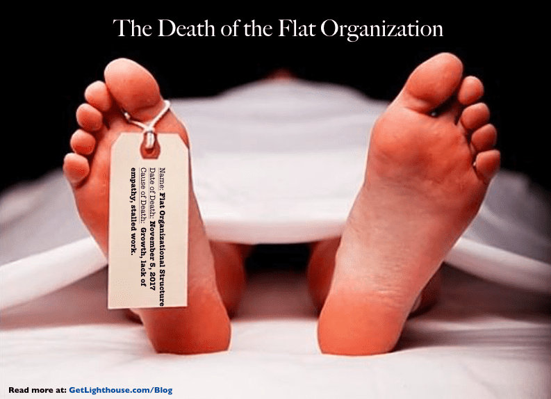 the death of the flat organizational structure