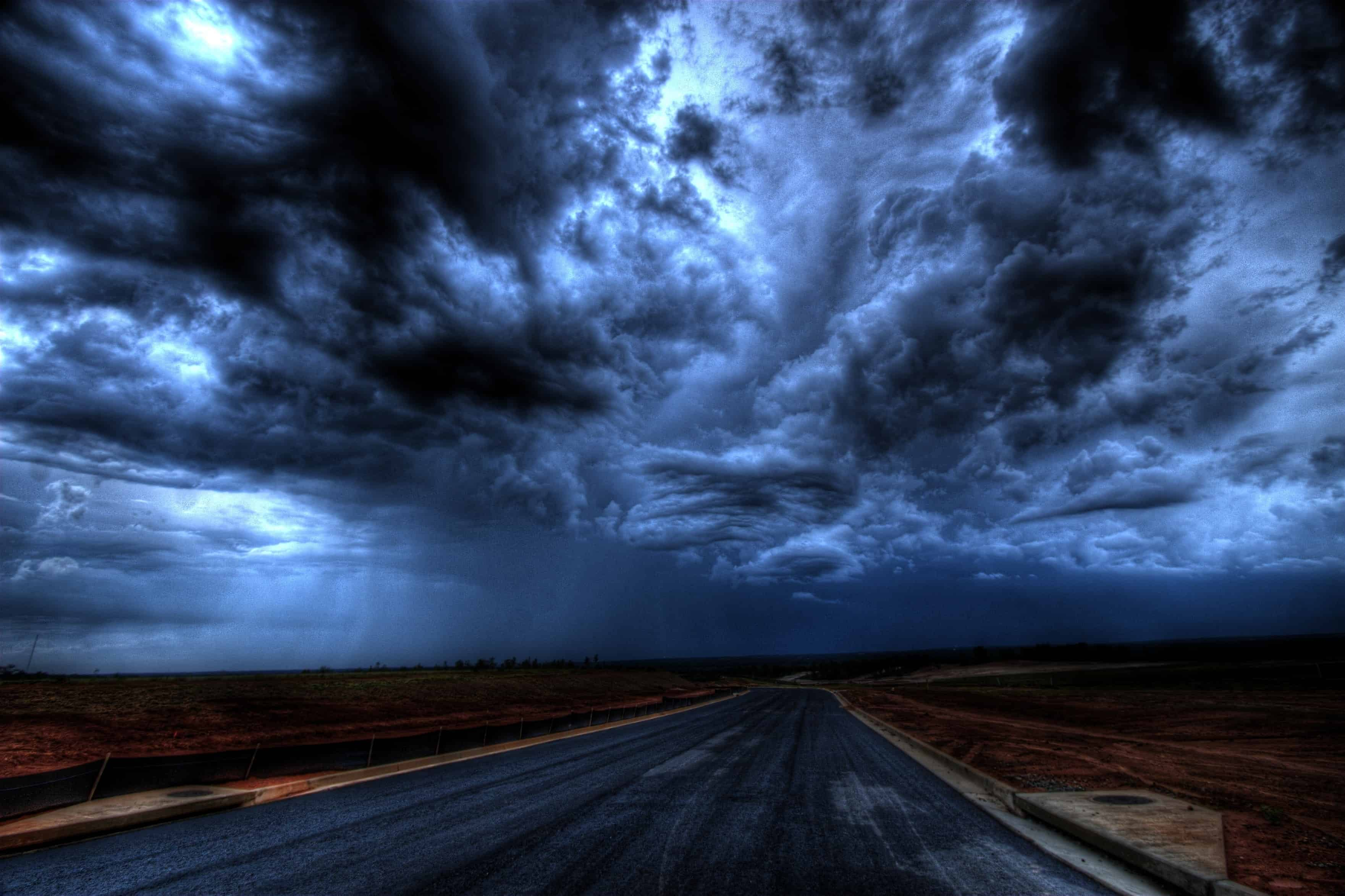 positive outlook is better than a negative storm clouds one