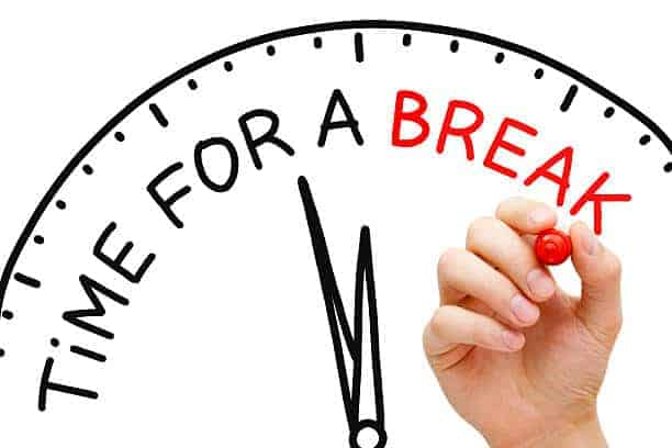 work-life balance includes breaks throughout the day