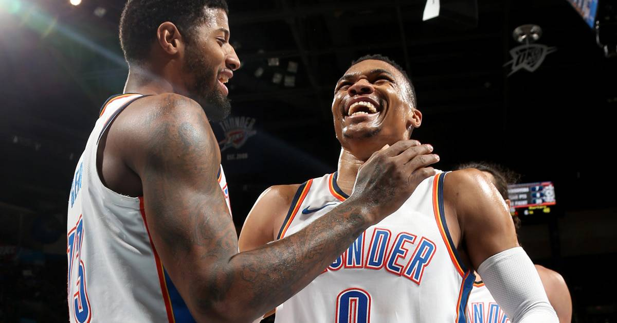 best friend at work work bff paul george and russell westbrook
