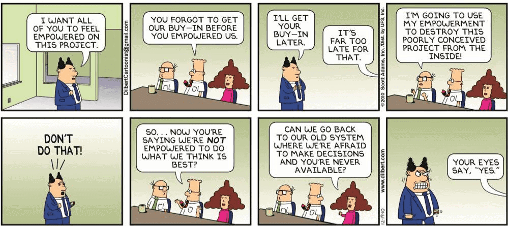 Dilbert get buy in comic