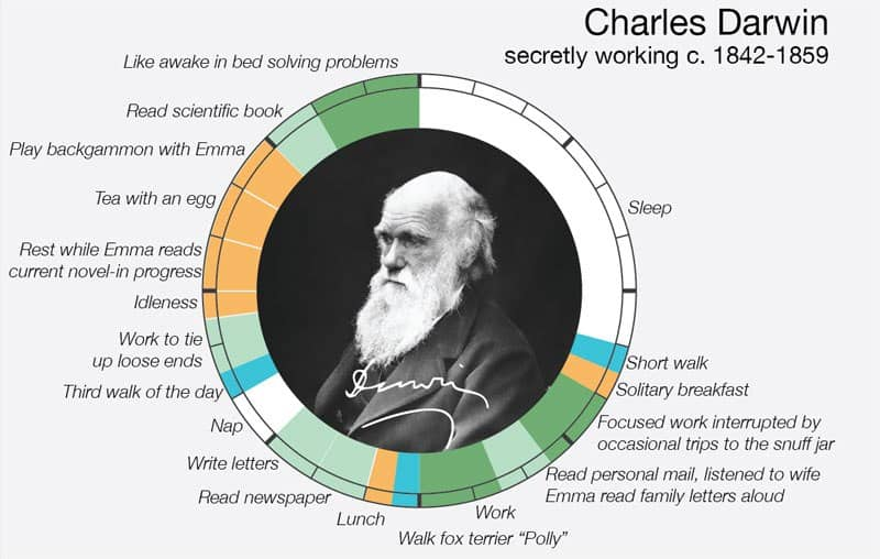 Charles Darwin schedule - workplace stress