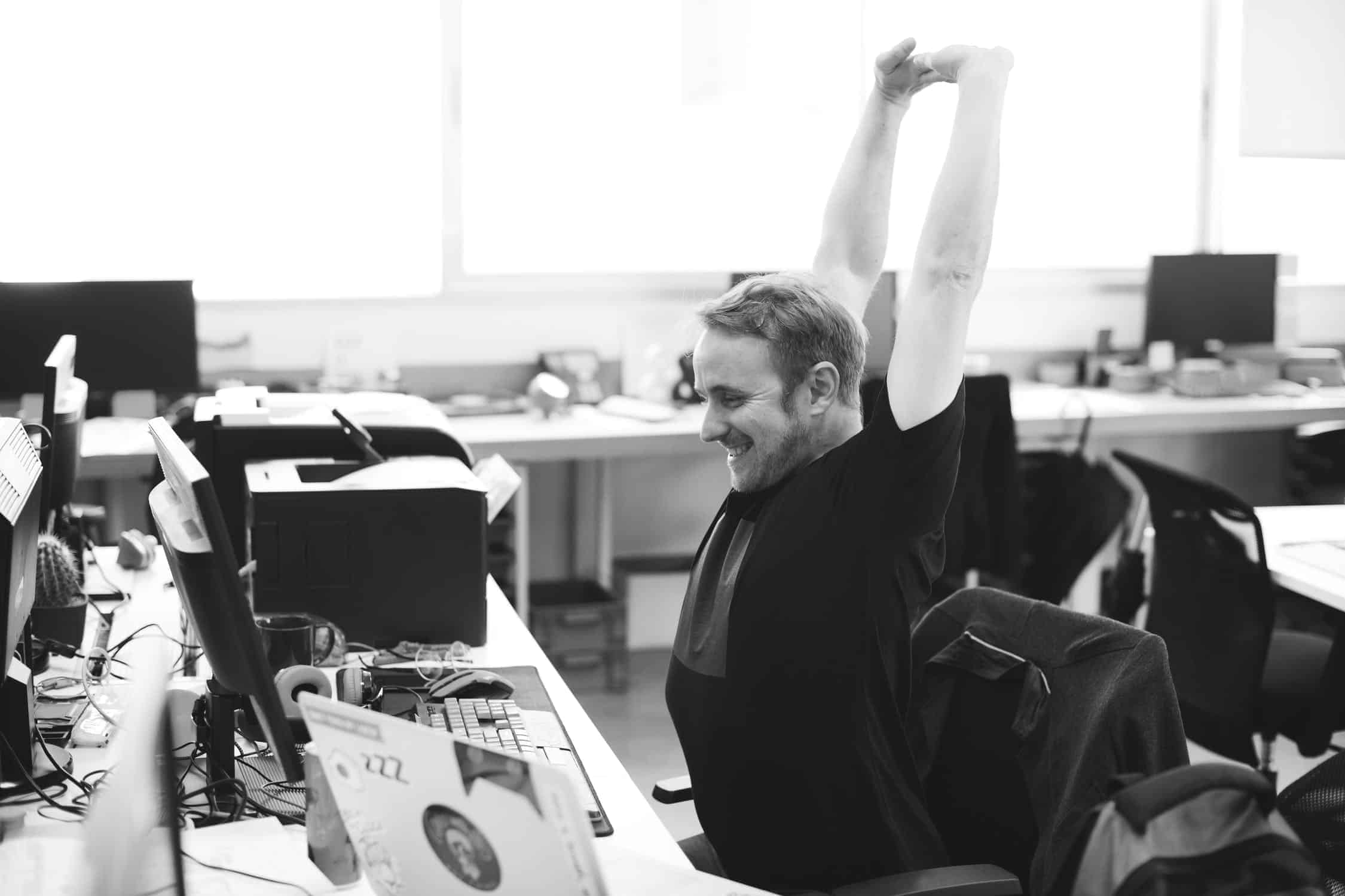 stretch to reduce workplace stress