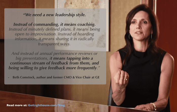 managers must become coaches beth comstock quote