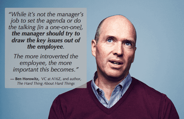 1 on 1 development - ben horowitz knows you gotta draw it out