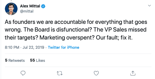 founders it's your fault, accountability vs responsibility