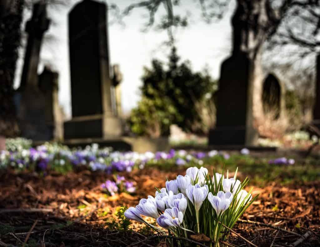 bereavement at work cemetary