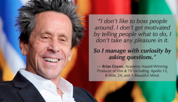 one on one meeting tips - be like Brian Grazer and ask a variety of questions
