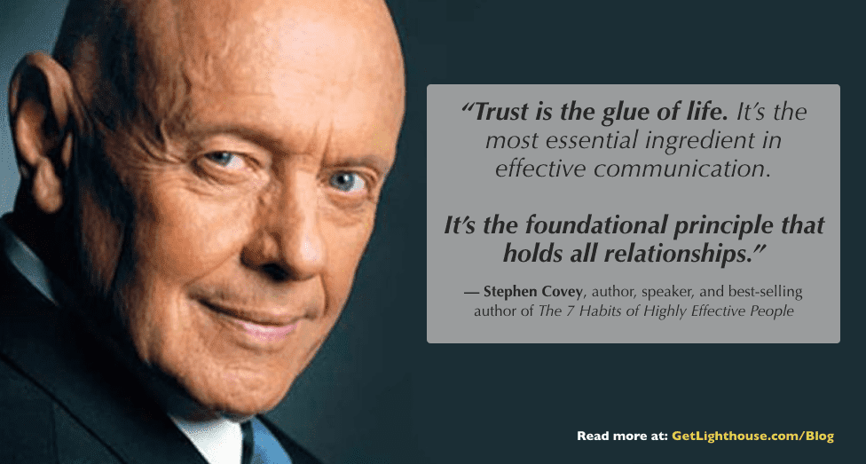 trust is the foundation of good crisis leadership