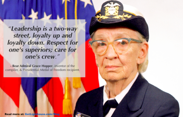 leadership skills must be learned and here's how with grace hopper care for your crew