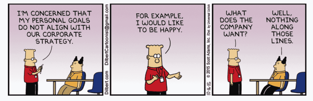 Dilbert on personal growth.