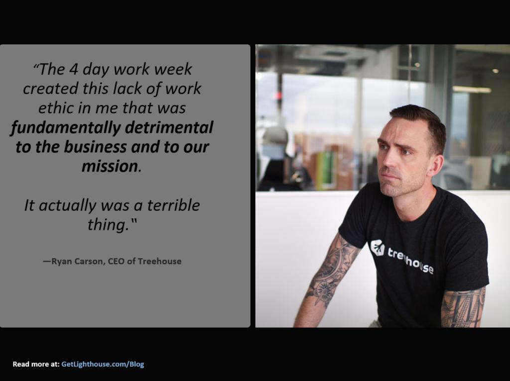 4 day work week quote ryan carson